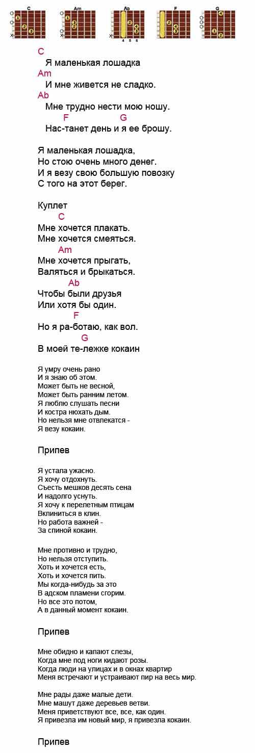 Аккорды песни Лошадка (Найк Борзов)