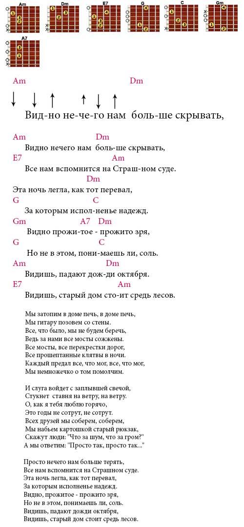 Антонов юрий правильные аккорды песен