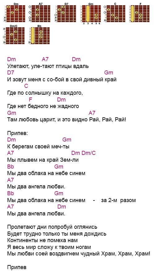 Аккорды к песне «Берега мечты» Стас Михайлов